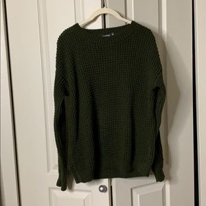 Boohoo Olive green knit sweater